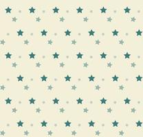 Greens stars on yellow pattern vector