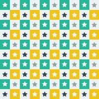 Green and yellow star tile pattern