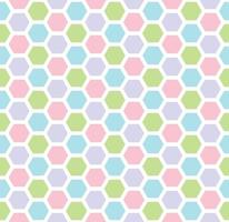 Multicolored hexagon geometric seamless background