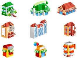 Isometric Retail Buildings