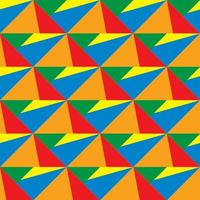 Colorful geometric shapes 3d pattern