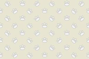 Huella animal de patrones sin fisuras vector