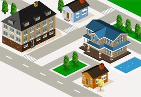 Maisons isométriques dans le voisinage