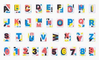 Alphabet poster font design vector