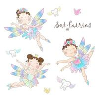 Set of cute fairies