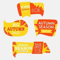 Beautiful Autumn Labels Collection vector