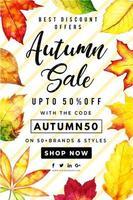 Vacker akvarell Autumn Leaves Sale affisch