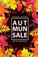 Beautiful Watercolor Autumn Leaves Sale Poster