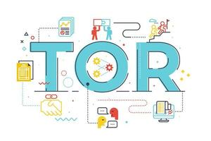TOR Term of Reference word lettering illustration