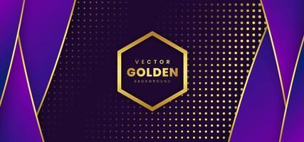 Guld- lyxig purpurfärgad bakgrund