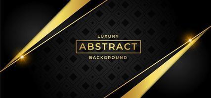 Fond noir de luxe doré