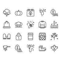 Herbst-Icon-Set