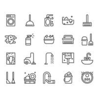 Reinigungs-Icon-Set