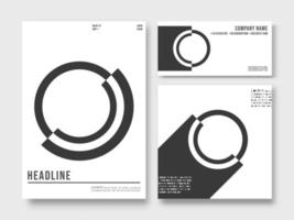 Set of printed products templates. Abstract