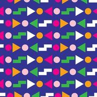 Geometric seamless pattern 80s design