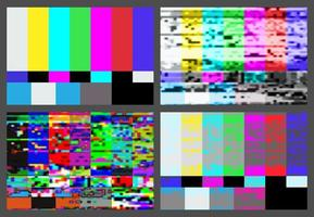 No signal TV test pattern background set.