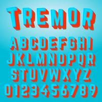 Alphabet font tremor design