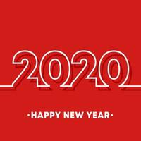 2020 Happy New Year template.