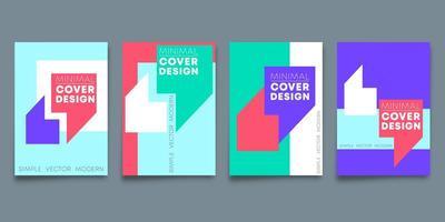 Set van minimaal ontwerp achtergronden ontwerp voor sjabloon folder
