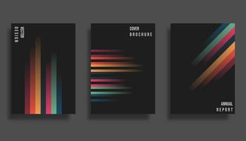 Abstract cover design. Gradient vector lines background