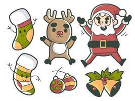 Elementos de eventos navideños premium