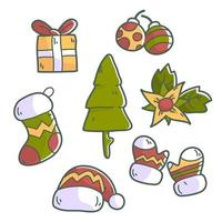 Christmas event elements premium vector
