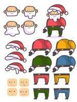Navidad santa claus personaje personalizado vector