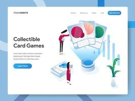 Landing page template of Collectible Card Games