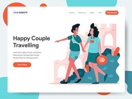 Concepto de viaje de pareja.