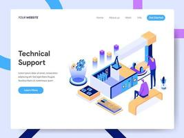 Landing page template of Technical Support