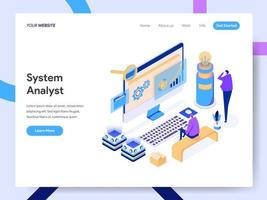 Landing page template of Data Analyst