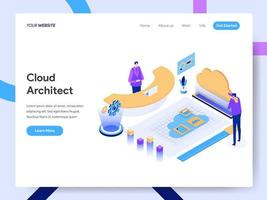 Landing page template of Cloud Architect