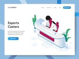 Landing page template of Esports Casters