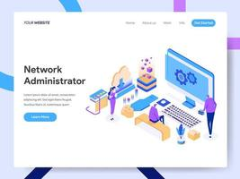 Landing page template of Network Administrator