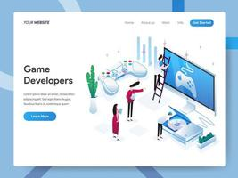 Landing page template of Game Developers