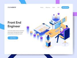 Landing page template of Front End Engineer