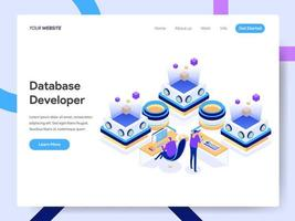 Landing page template of Database Developer