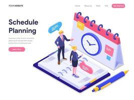 Concepto de planificación del horario. vector