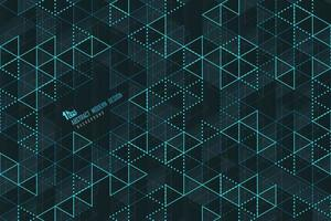 Abstract blue triangle lines of technology template