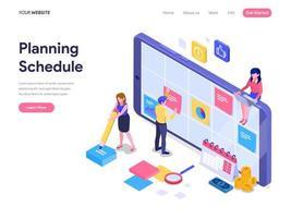 Concepto de planificación de horarios
