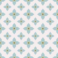 Geometric Floral Tiles Pattern vector