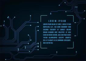 Fondo de placa de circuito de tecnología futurista