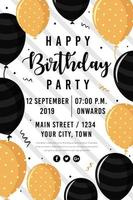 Happy Birthday Party Poster