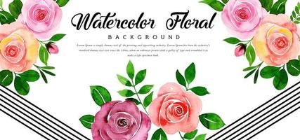 Beautiful Watercolor Pink Floral Background