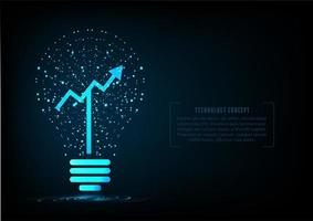 Particle Light bulb with growing graph vector