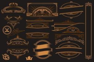 Uppsättning av element för design