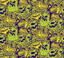 Color halloween seamless pattern vector