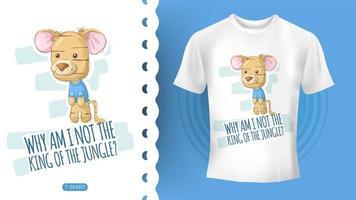 Ideia bonito do tigre para t-shirt