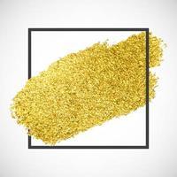 Raia de brilho ouro em uma moldura preta