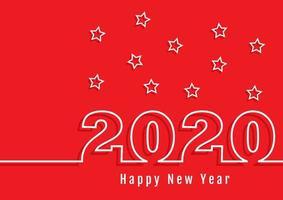 Felice anno nuovo numero contorno sfondo